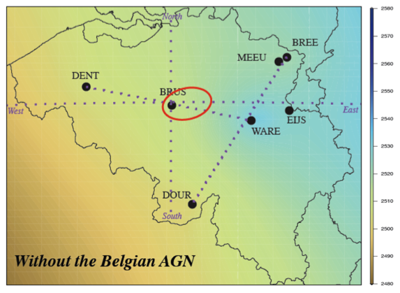 European Zenith Path Delay Field computed from GNSS observations